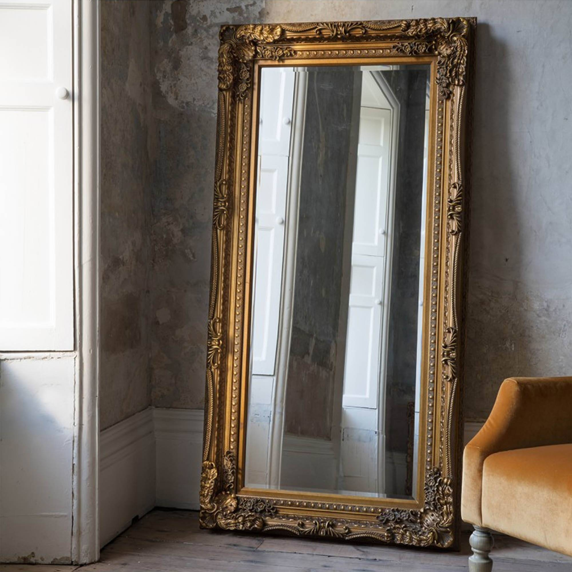 French Floor Standing Mirrors | Extra Large Mirrors | Floor Mirrors within French Style Full Length Mirrors (Image 5 of 15)