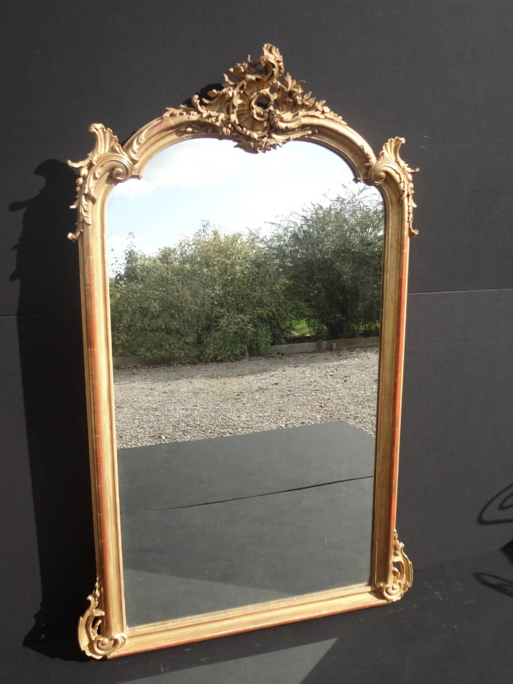 French Gilt Overmantle Mirror | 253052 | Sellingantiques.co.uk intended for French Gilt Mirrors (Image 11 of 15)