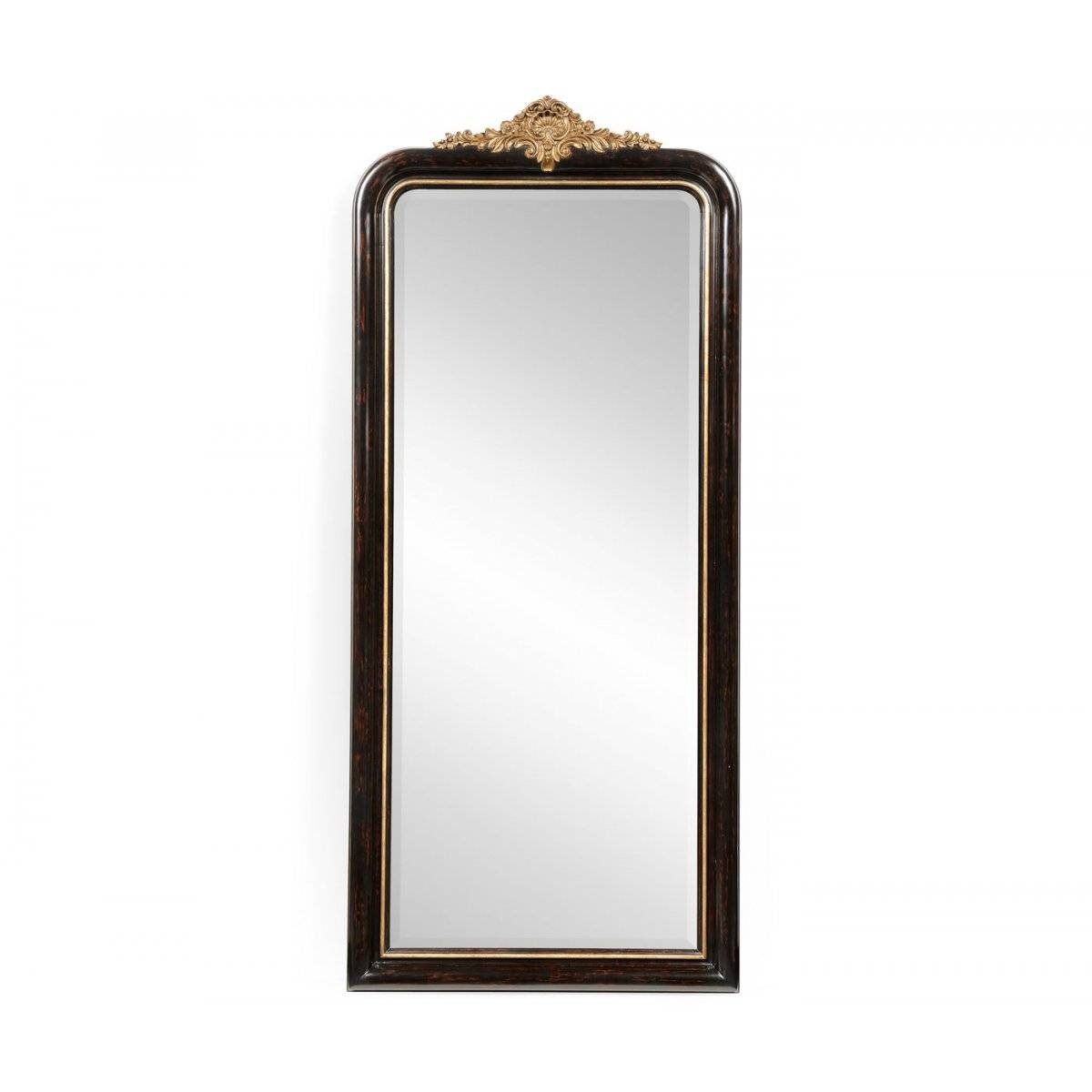 Full Length Black Mirror Gilded French Style | Swanky Interiors inside French Style Full Length Mirrors (Image 7 of 15)