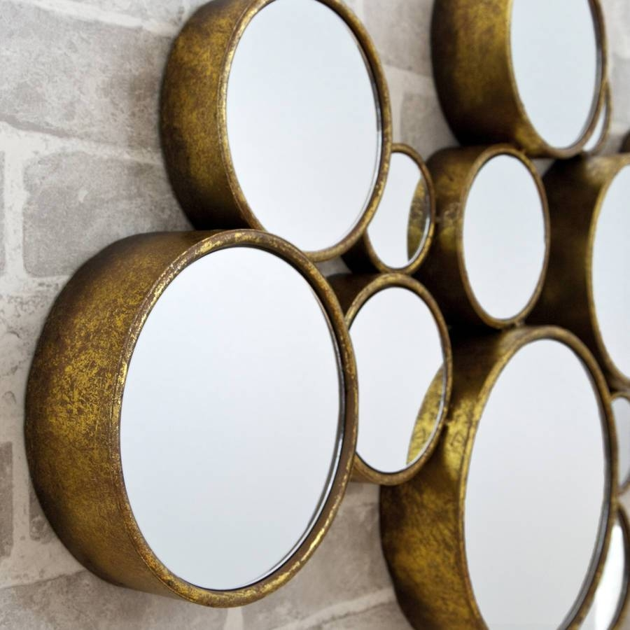 Funky' Circles Mirrordecorative Mirrors Online in Funky Round Mirrors (Image 6 of 15)