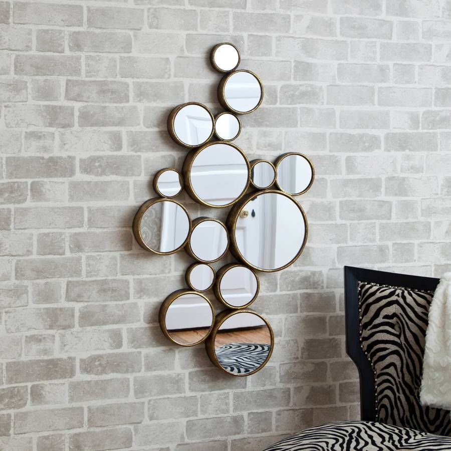 Funky' Circles Mirrordecorative Mirrors Online within Funky Round Mirrors (Image 7 of 15)