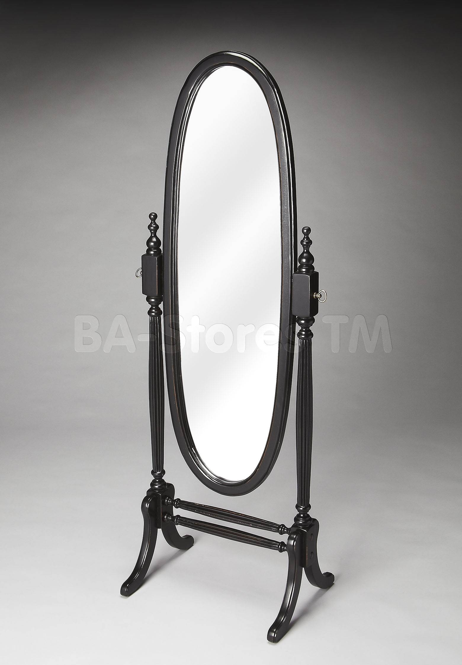 Furniture: Charming Cheval Mirror Jewelry Armoire Ideas regarding Black Free Standing Mirrors (Image 7 of 15)