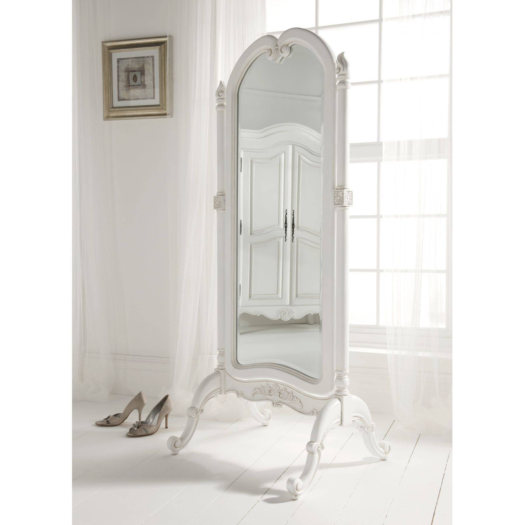 Furniture: Charming Cheval Mirror Jewelry Armoire Ideas throughout Full Length Stand Alone Mirrors (Image 5 of 15)