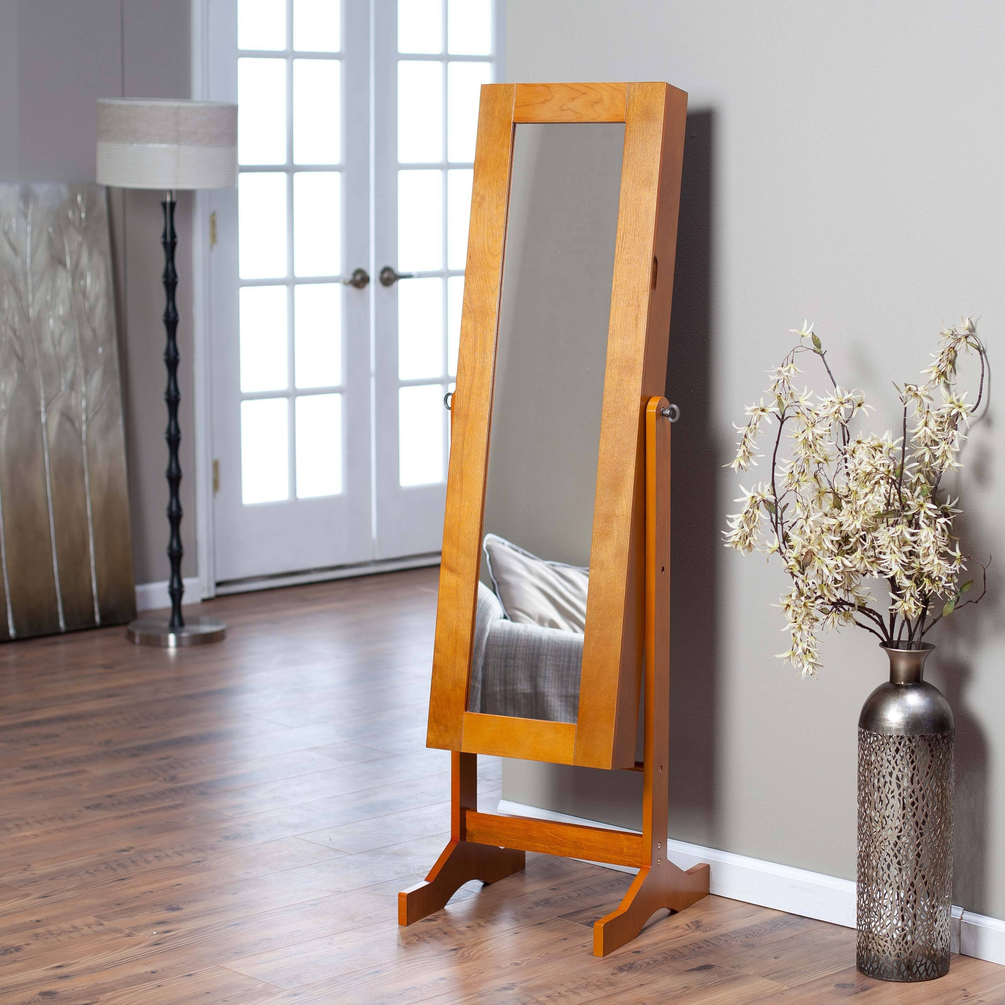 Furniture: Floors Lamp Withcheval Mirror intended for Free Standing Oak Mirrors (Image 6 of 15)