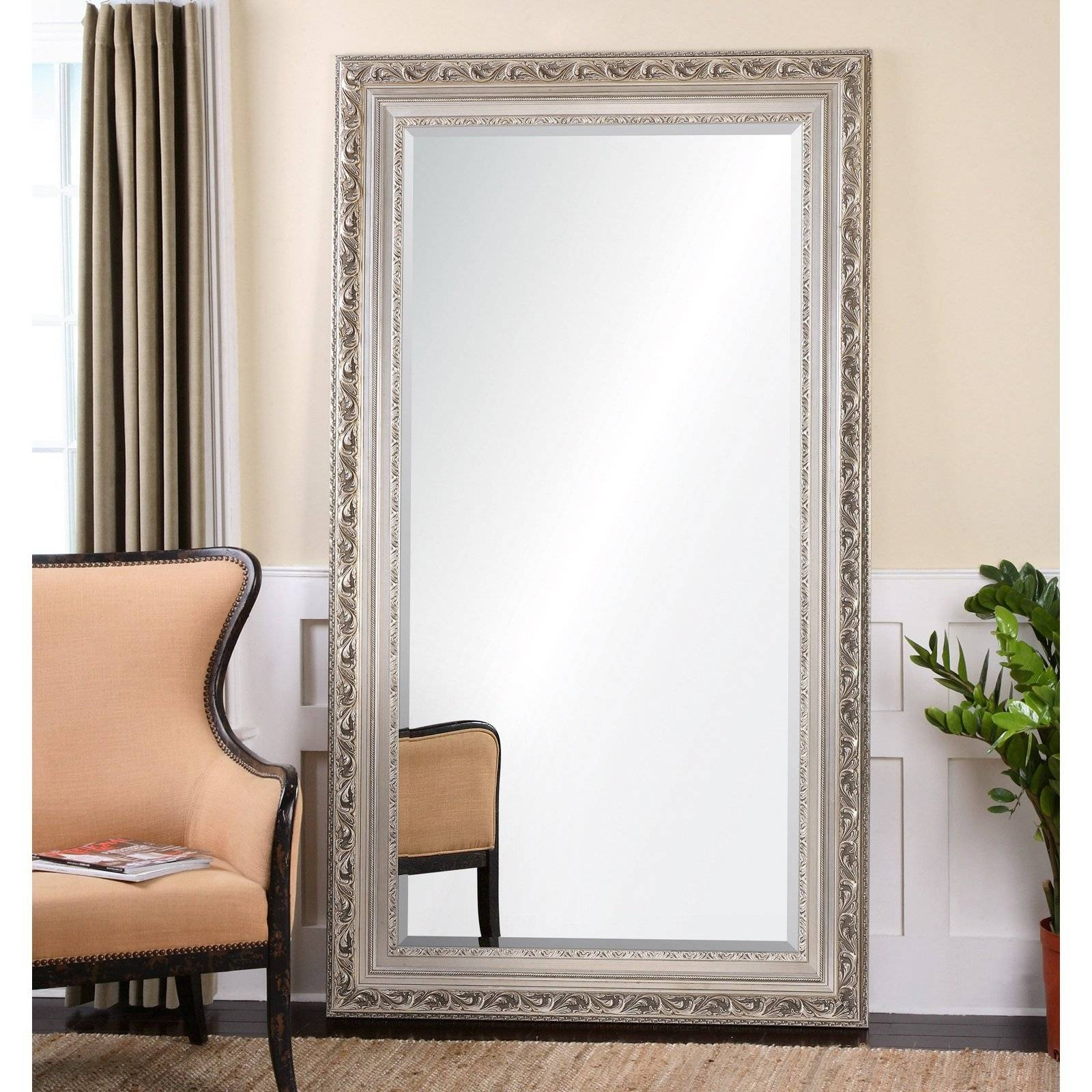 Furniture: Mesmerizing Oversized Floor Mirror For Home Furniture with regard to Cheap Huge Mirrors (Image 4 of 15)
