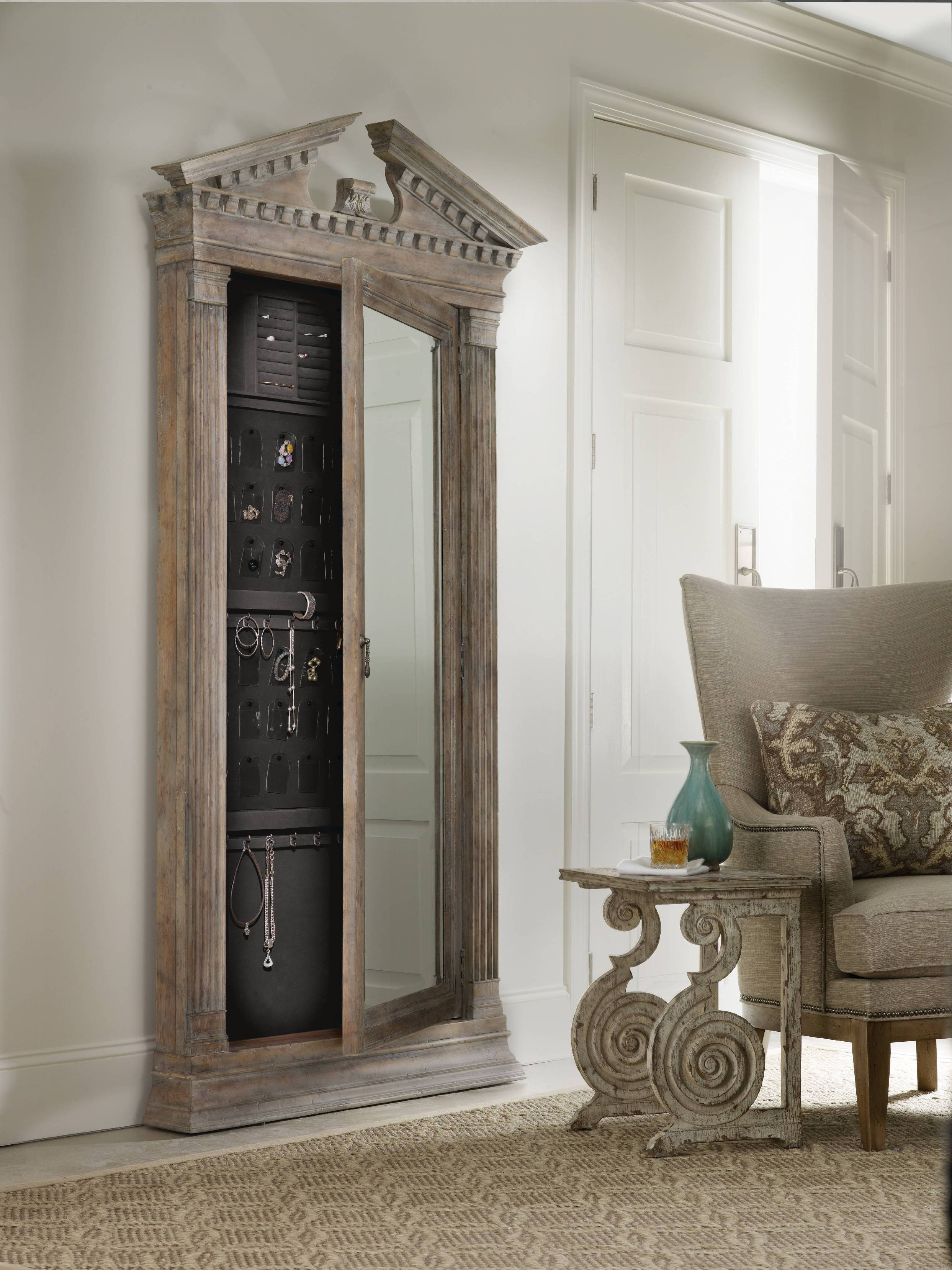 Furniture : Mirrored Jewelry Armoire Clearance Large Jewelry For Large White Floor Mirrors (View 9 of 15)