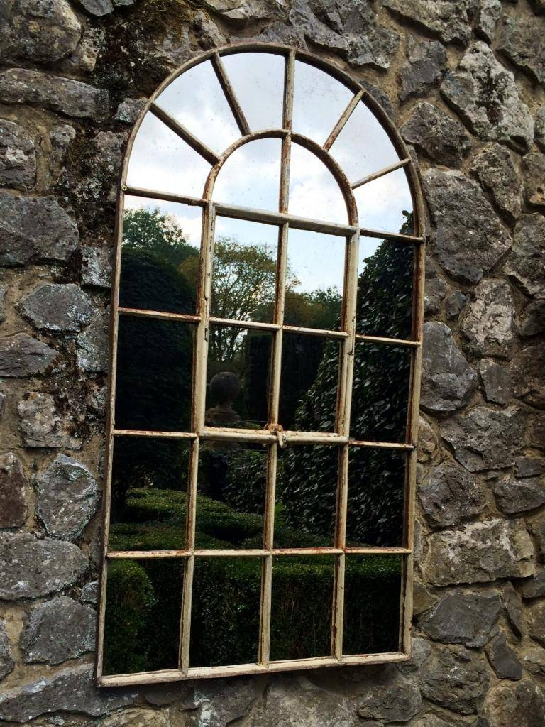 Garden Outside Arch Architectural Window Mirror Garden-Exterior within Large Outdoor Garden Mirrors (Image 3 of 15)