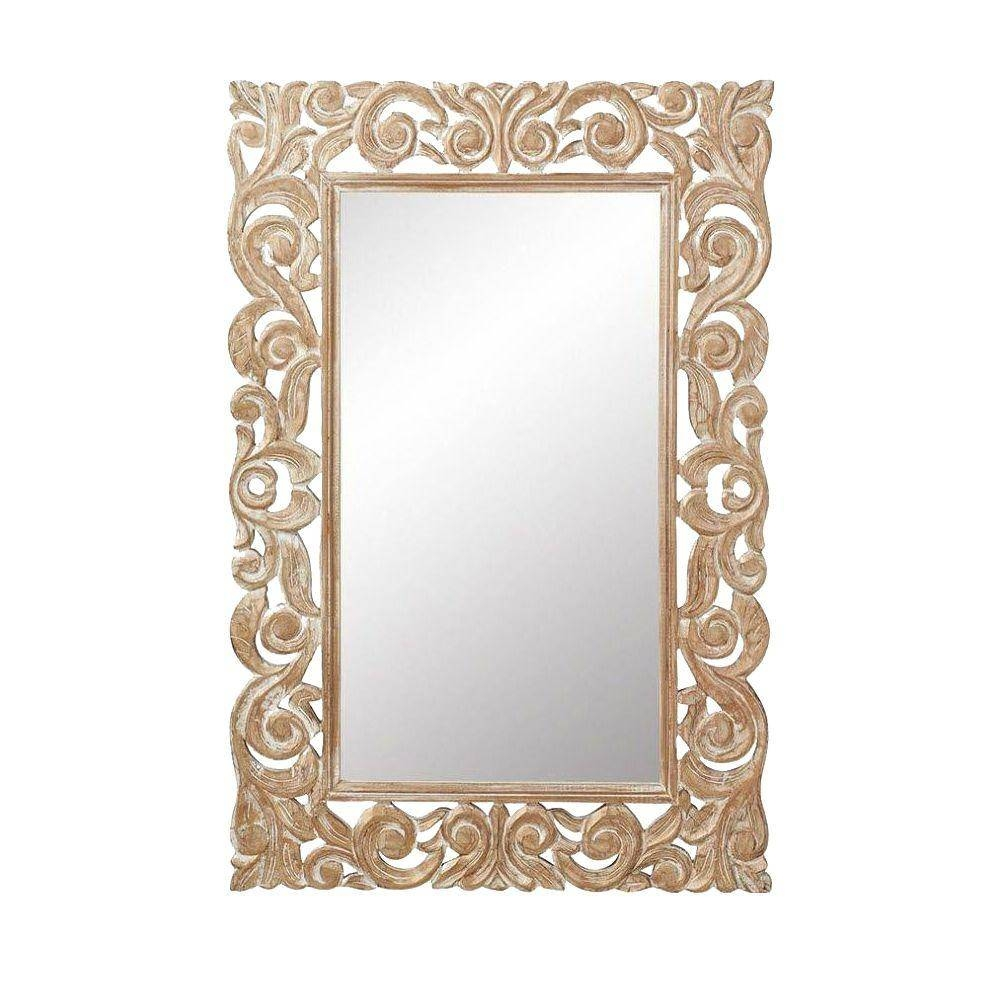 Gold Metallic – Mirrors – Wall Decor – The Home Depot Regarding Gold Mirrors (View 3 of 15)