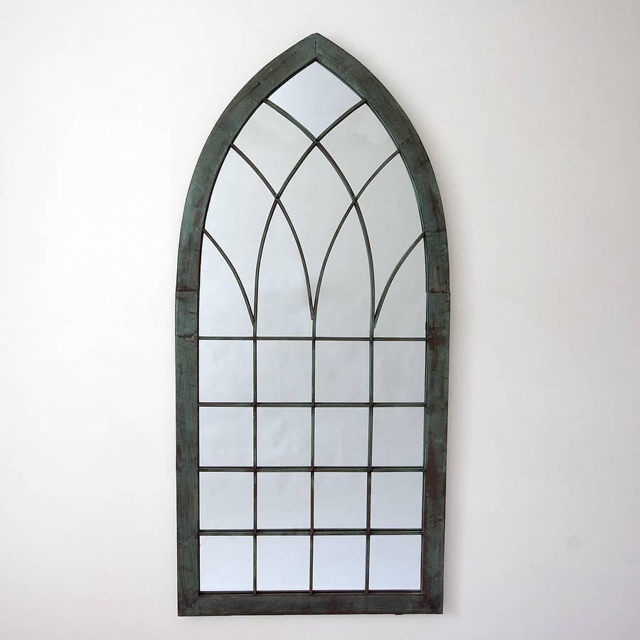 Gothic Verdegris Garden Mirrordecorative Mirrors Online inside Gothic Garden Mirrors (Image 11 of 15)