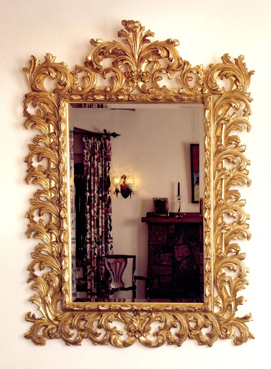 Grand Baroque Mirror | Carvers' Guild pertaining to Baroque Gold Mirrors (Image 9 of 15)