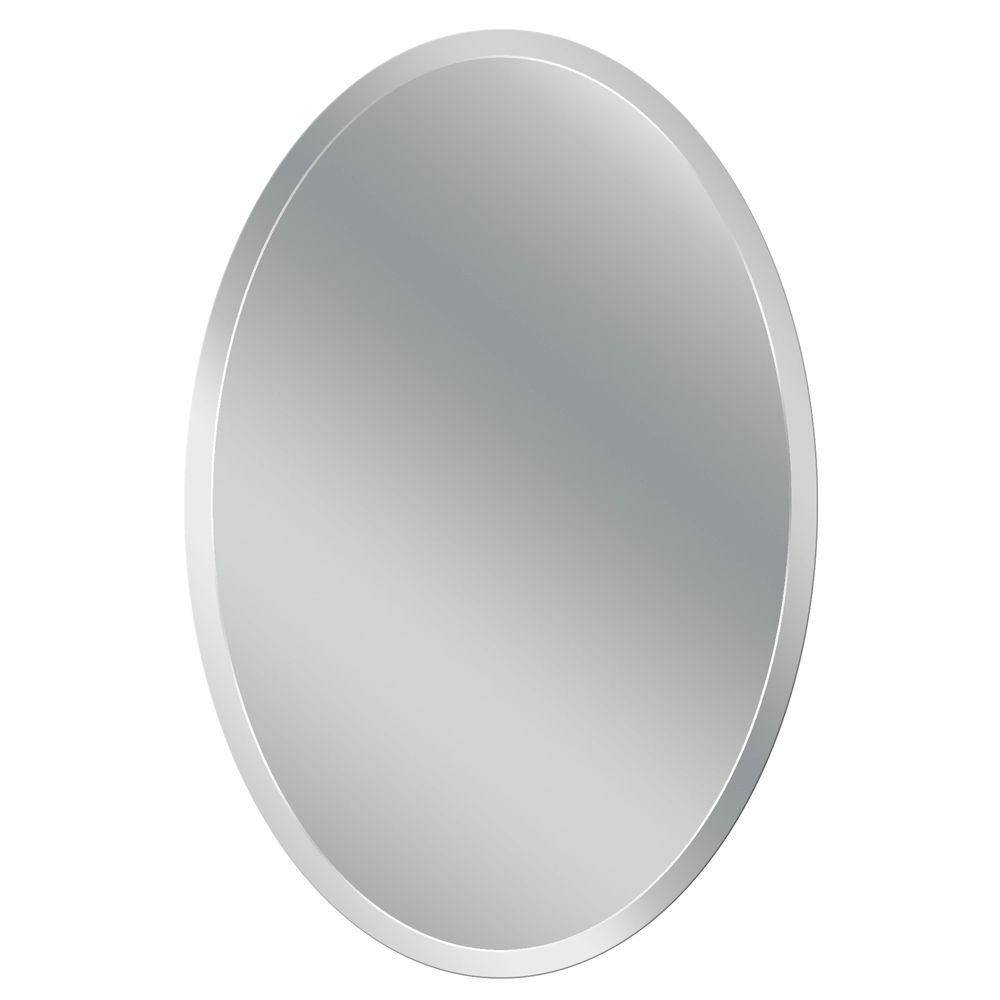 Head West 24 In. X 36 In. Frameless Vanity Oval Mirror-8639 - The throughout Oval Bevelled Mirrors (Image 6 of 15)