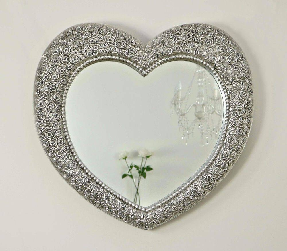 Heart Decorative Mirrors | Ebay With Large Heart Mirrors (View 2 of 15)