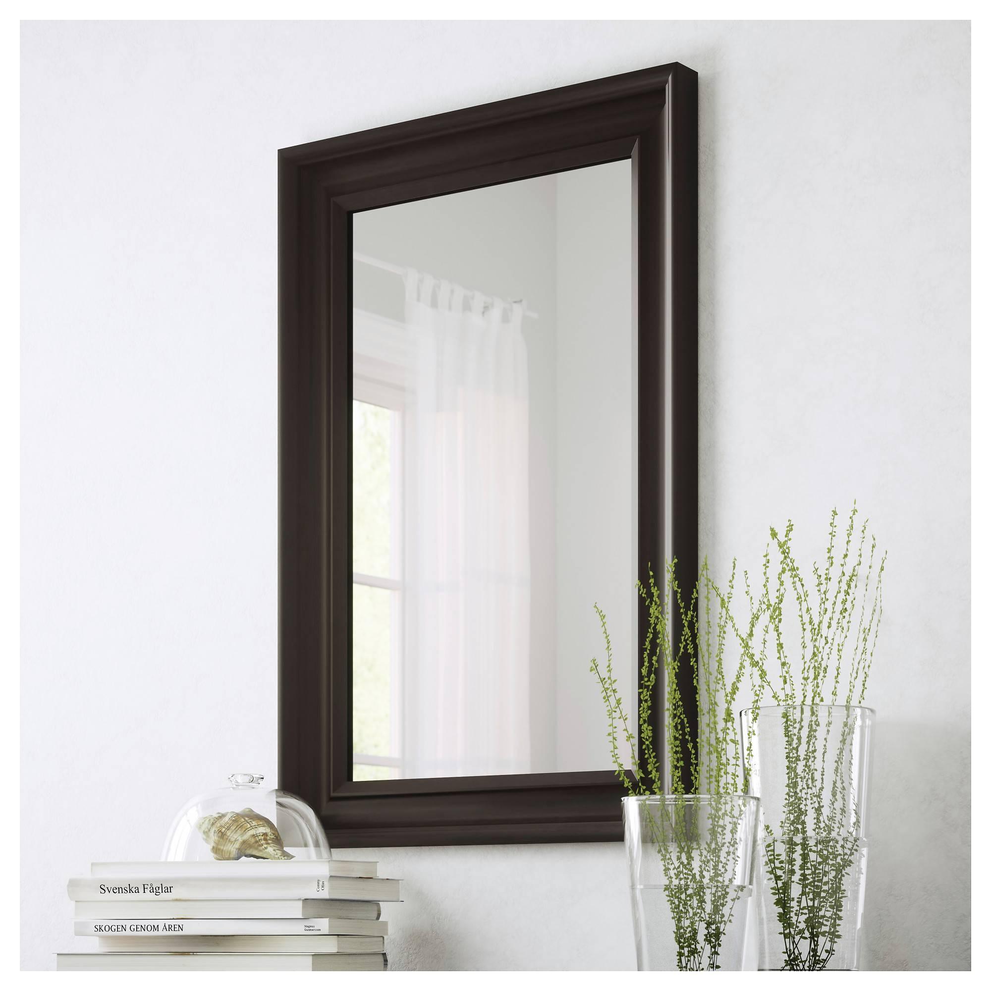 Hemnes Mirror Black Brown 60X90 Cm – Ikea For Long Black Wall Mirrors (View 9 of 15)