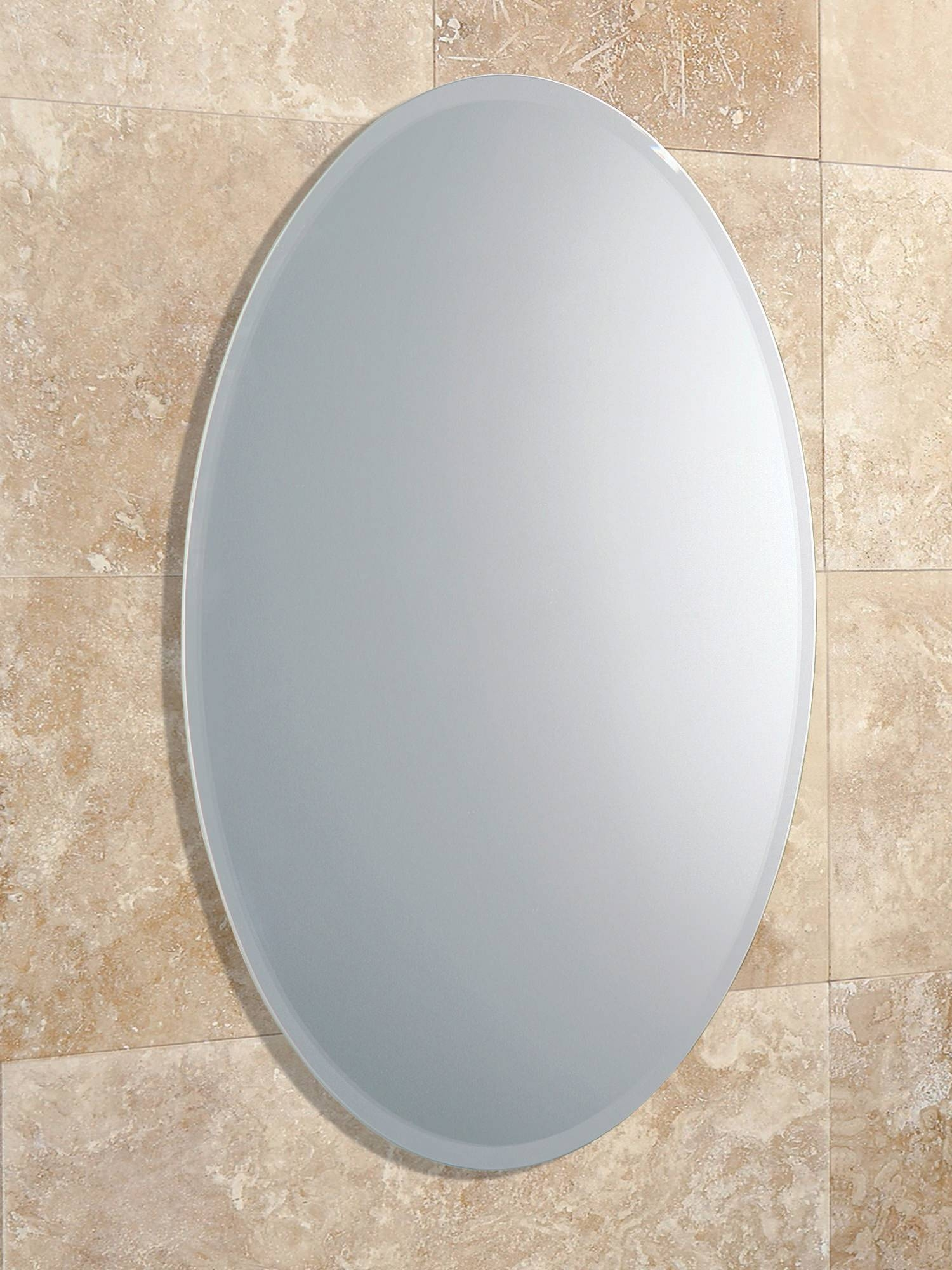 Hib Alfera Oval Shaped Mirror With Bevelled Edge | 61643000 with regard to Bevelled Oval Mirrors (Image 7 of 15)
