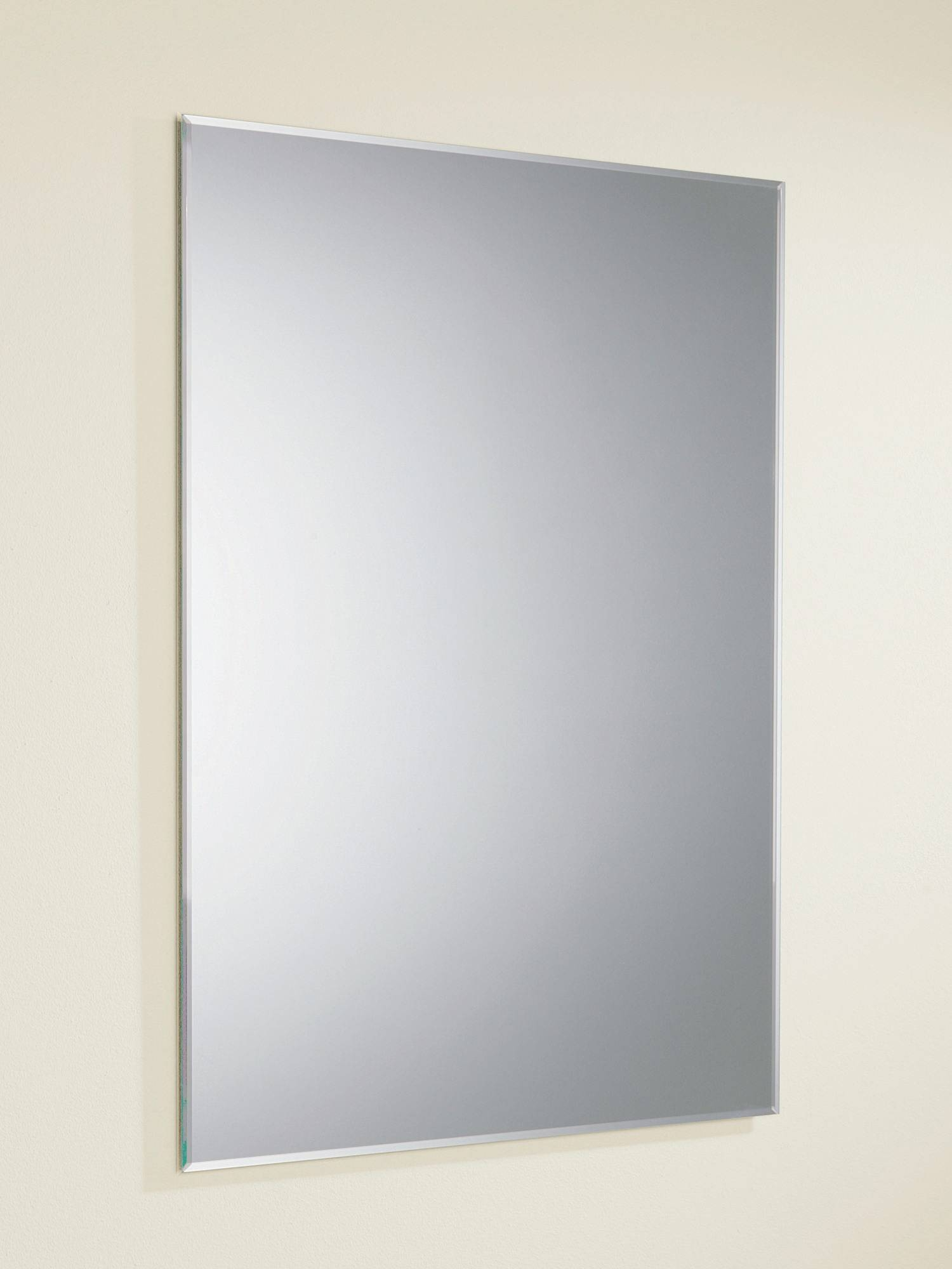 Hib Joshua Rectangular Mirror With Bevelled Edges 500 X 700Mm in Bevelled Edge Bathroom Mirrors (Image 7 of 15)