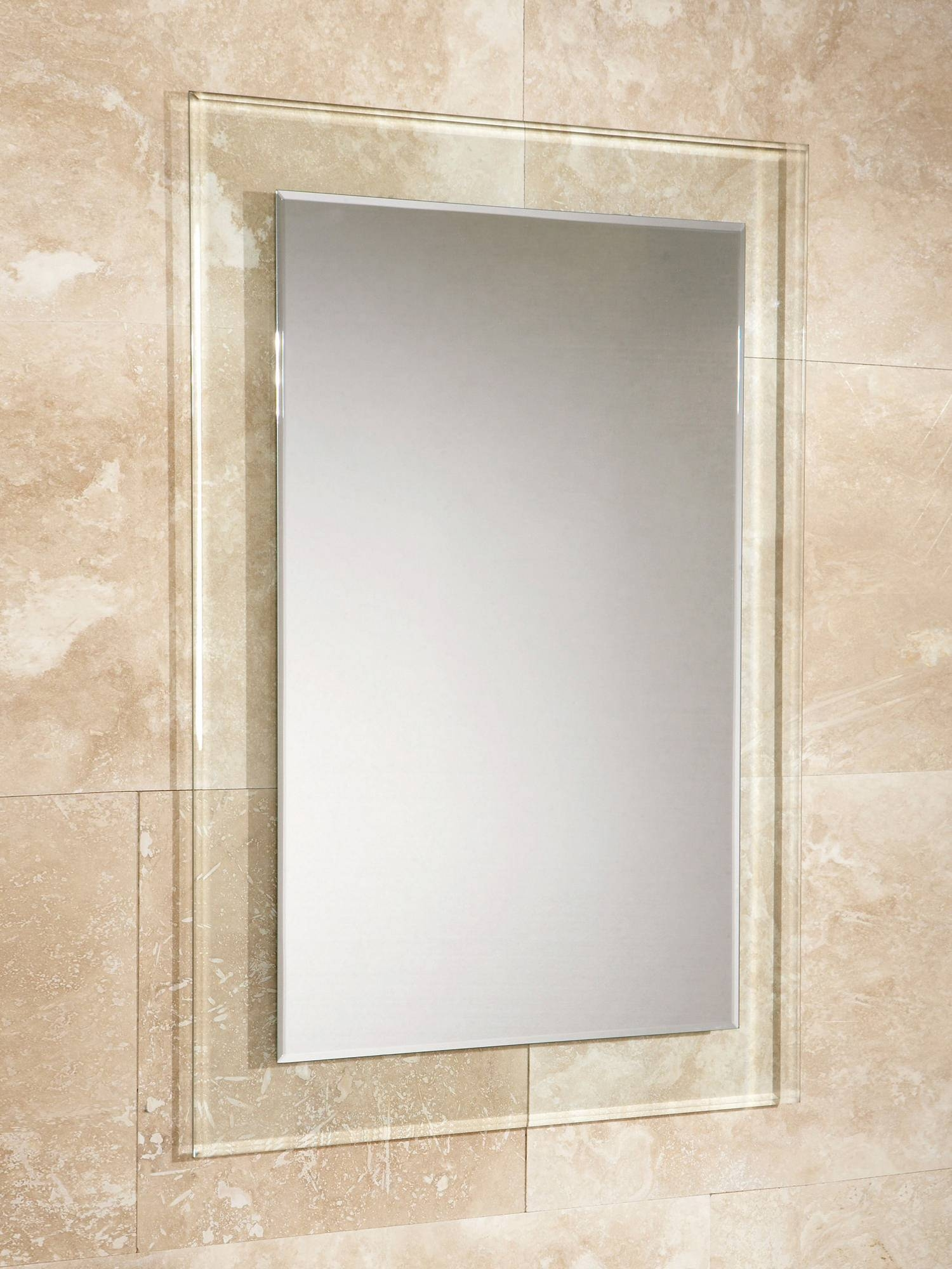 Hib Lola Bevelled Edge Mirror With Clear Glass Frame 500 X 700Mm for Bevelled Edge Mirrors (Image 10 of 15)