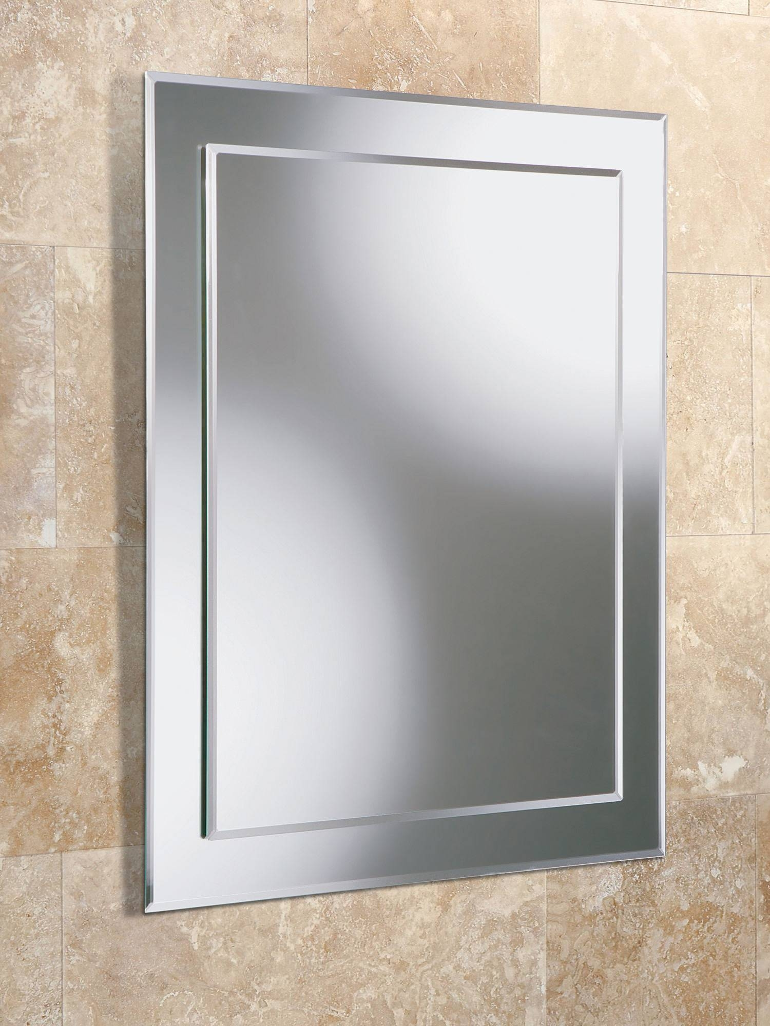 Hib Olivia Rectangular Bevelled Mirror On Mirror 400 X 600Mm with regard to Bevelled Bathroom Mirrors (Image 10 of 15)