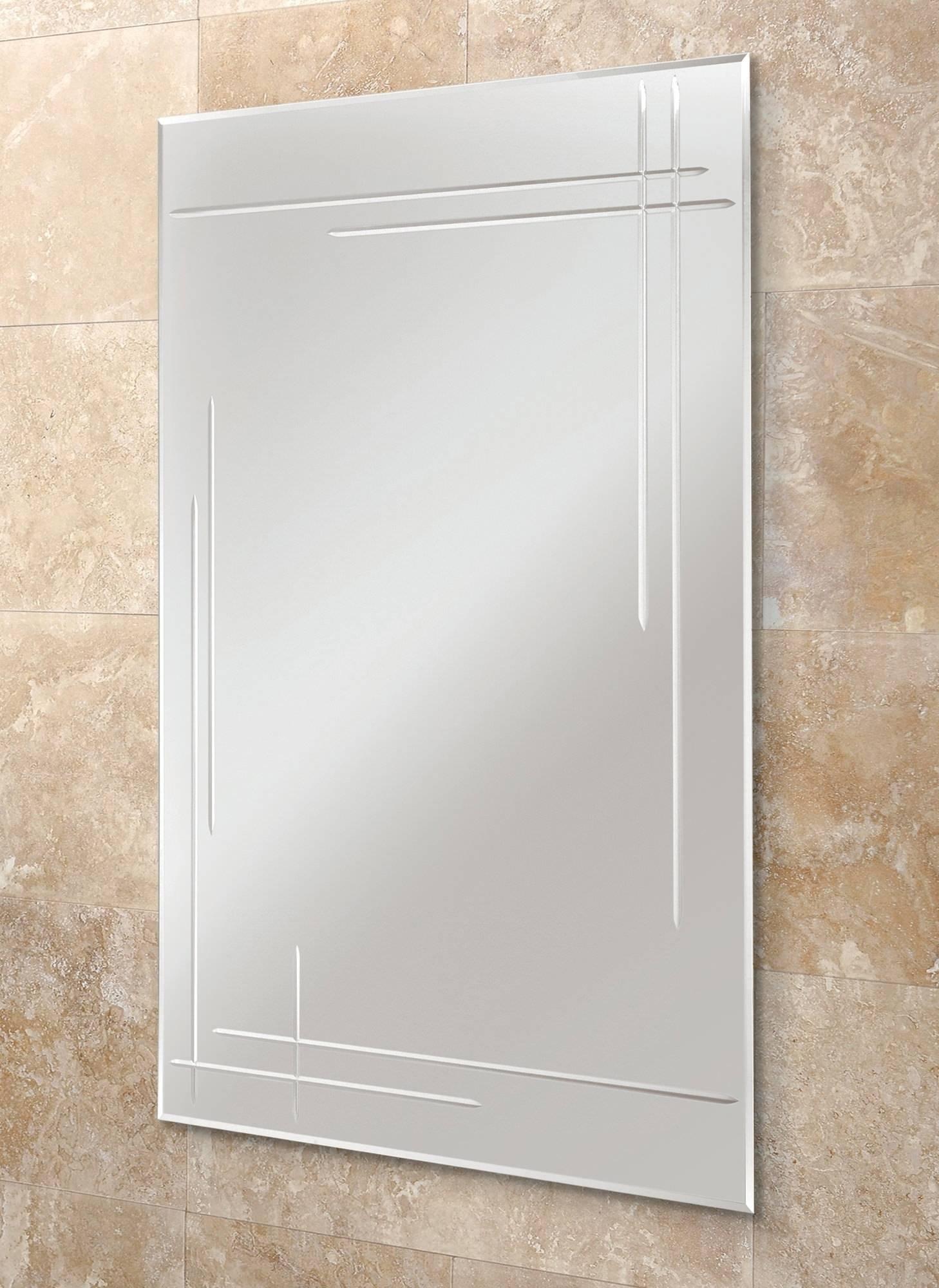 Hib Opus Rectangular Bevelled Edge Bathroom Mirror 500 X 700Mm Throughout Bevelled Edge Bathroom Mirrors (View 8 of 15)