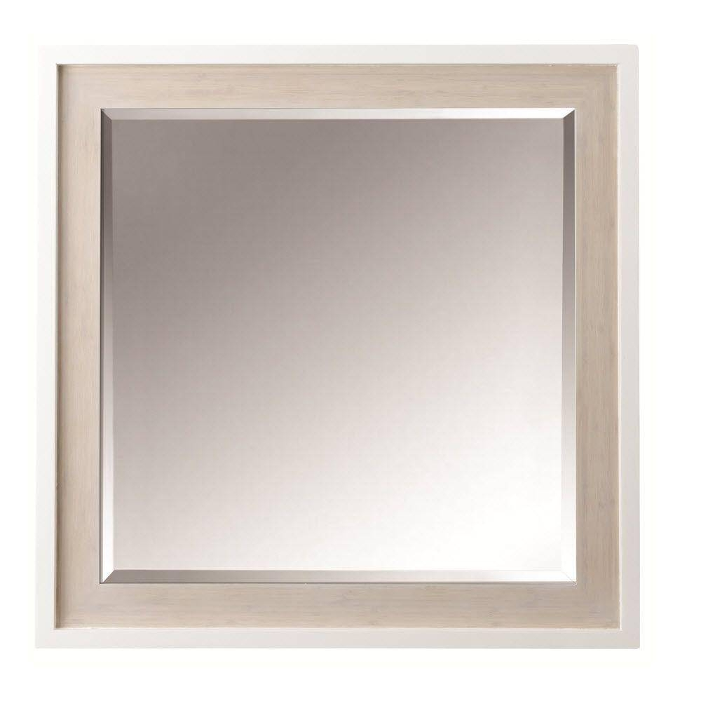 Home Decorators Collection Melbourne 30 In. W X 30 In. H Single with regard to Oak Wall Mirrors (Image 4 of 15)