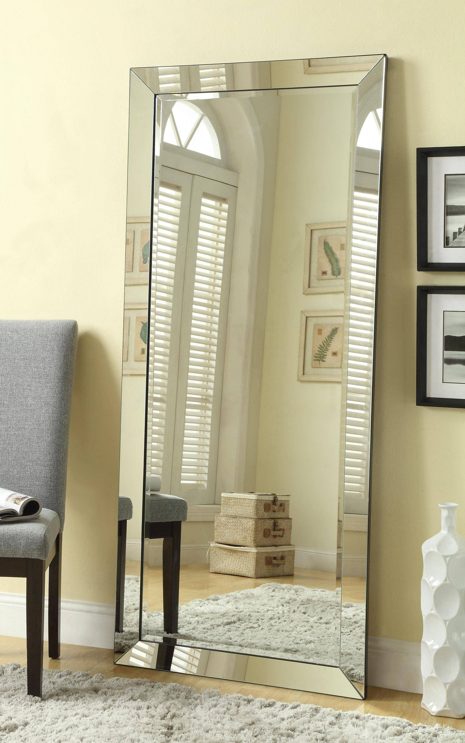 Home Design : Decor: Leaning Floor Mirror | Large Leaner Mirrors Pertaining To Large Stand Alone Mirrors (View 9 of 15)