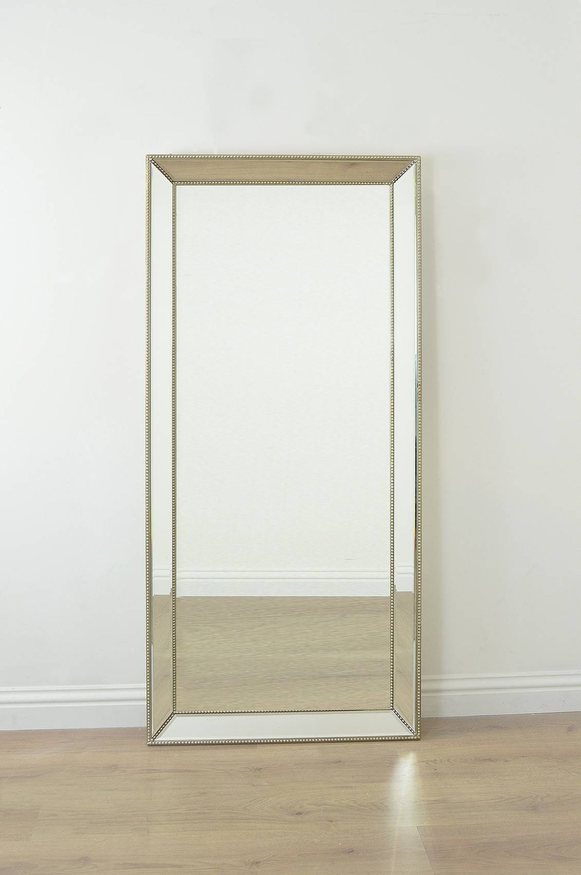 Interior: Mesmerizing Frameless Full Length Mirror For Home pertaining to Venetian Beaded Mirrors (Image 1 of 15)