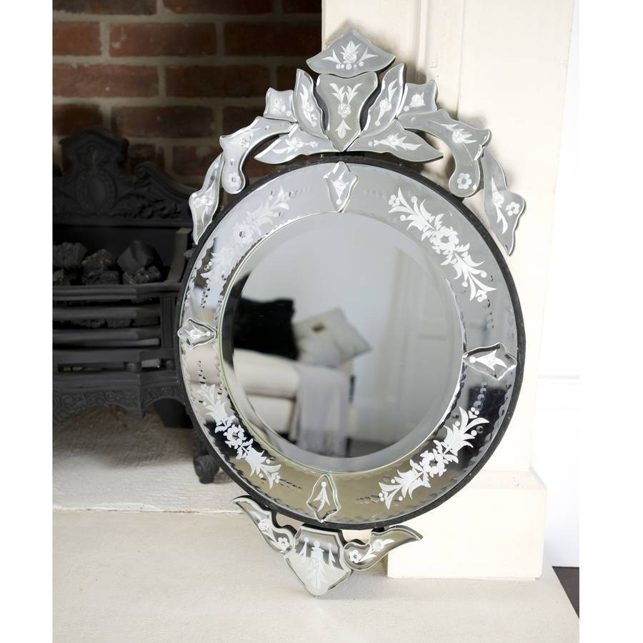 Interior: Vintage Venetian Mirror For Classic Interior Decor For Round Venetian Mirrors (View 4 of 15)
