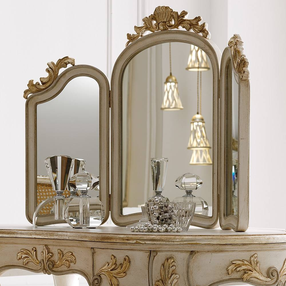 Italian Freestanding 3 Leaf Dressing Table Mirror | Juliettes Inside Standing Table Mirrors (View 6 of 15)