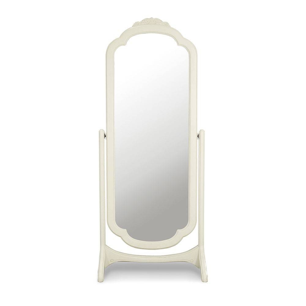 Ivory French Inspired Cheval Mirror | Cheval Mirrors | French throughout Cream Cheval Mirrors (Image 5 of 15)