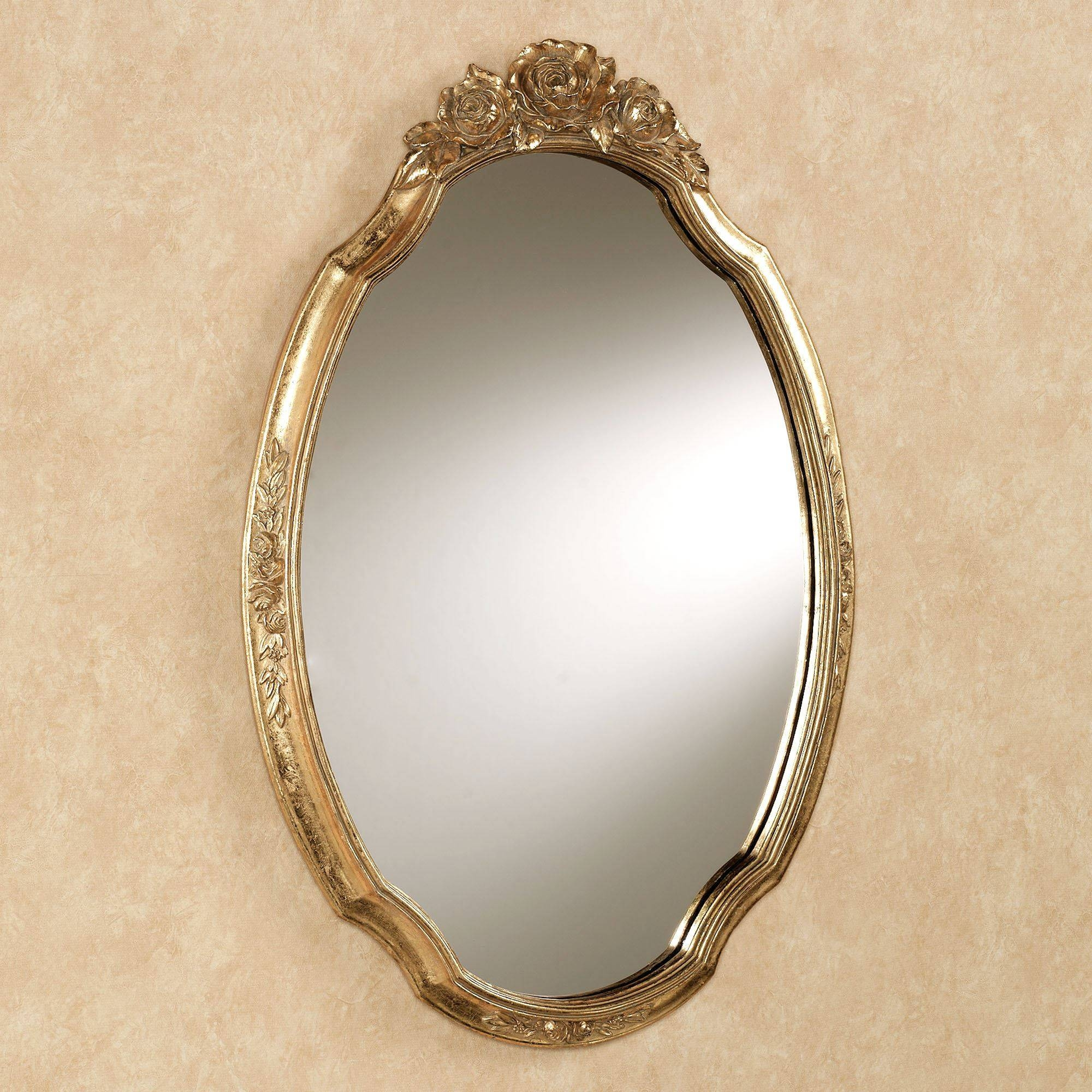 Jorah Rose Oval Wall Mirror Intended For Gold Wall Mirrors (View 8 of 15)