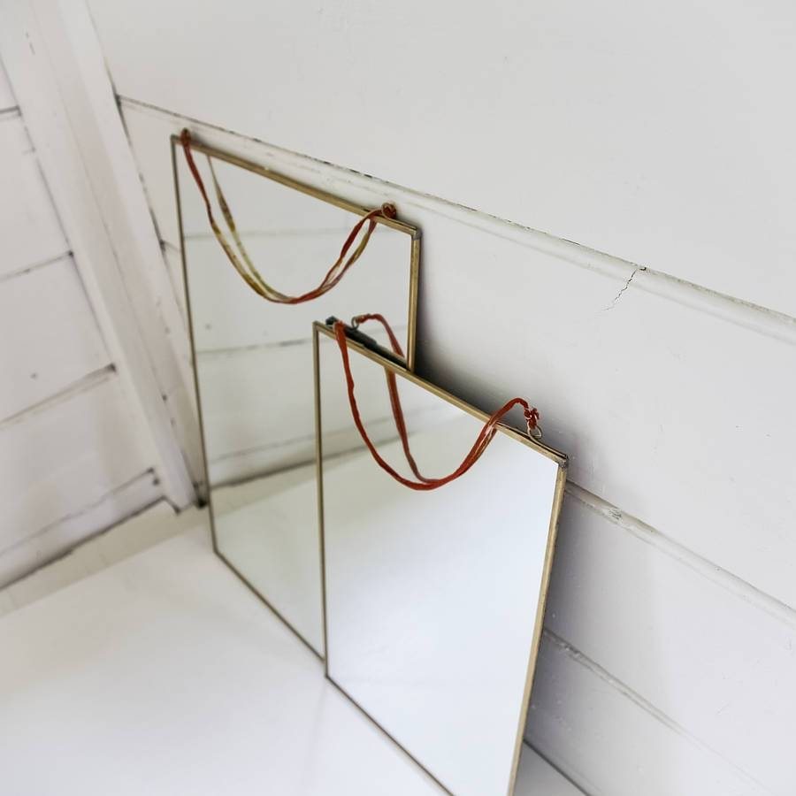 Kiko Brass Mirrornkuku – 30 X 30Cm | Heavenlyhomesandgardens.co.uk within Brass Mirrors (Image 12 of 15)