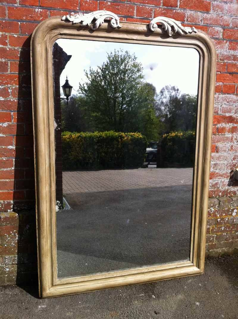Large 19Th Century Painted Wall/floor Standing Mirror - Antique pertaining to Large Standing Mirrors (Image 9 of 15)