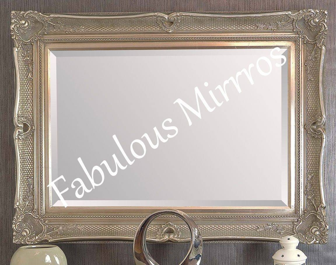 Large Black Decorative Ornate Mirror - Other Frame Colours Available with regard to Large Black Ornate Mirrors (Image 4 of 15)
