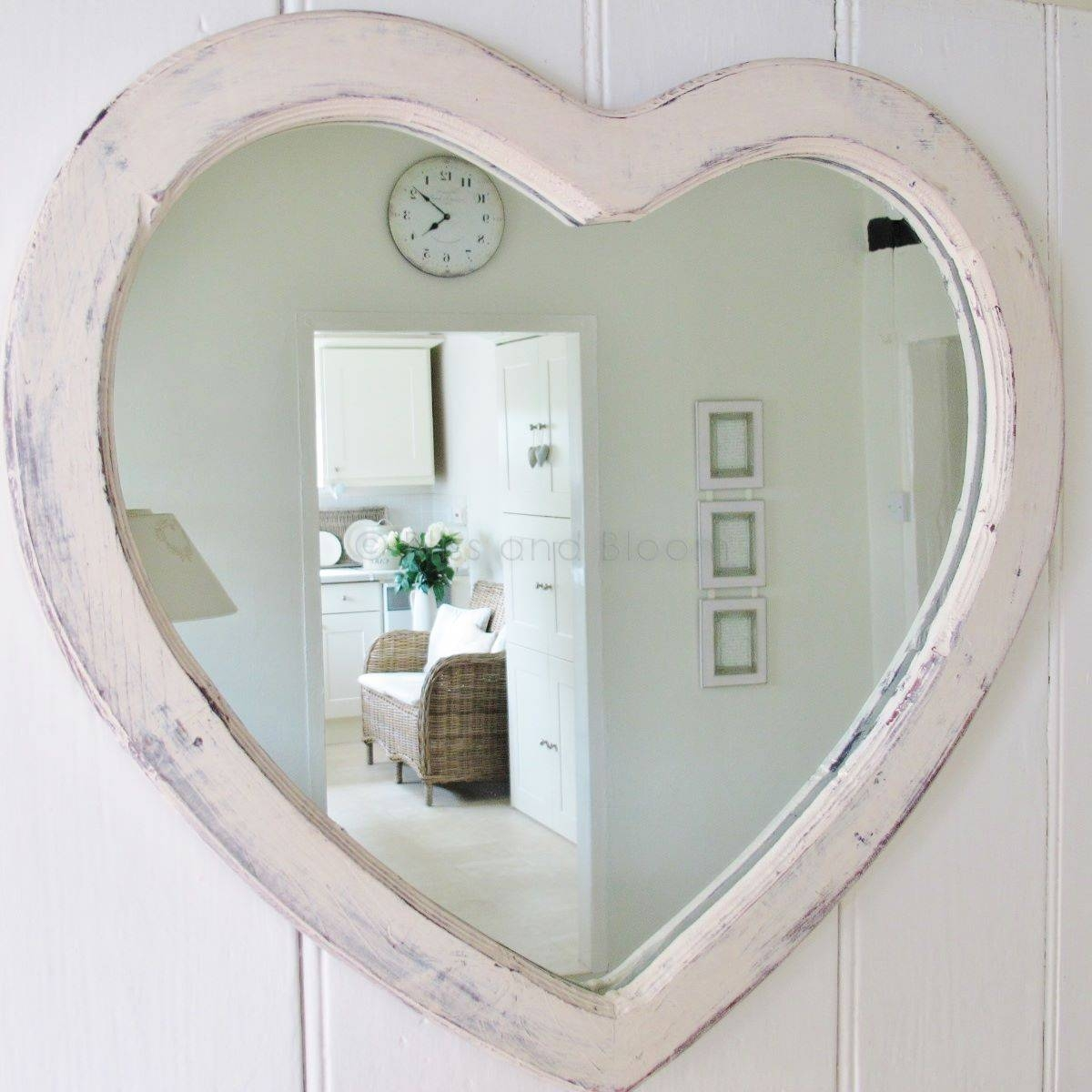 Large Cream Heart Wall Mirror | Bliss And Bloom Ltd With Regard To Large Heart Mirrors (View 3 of 15)