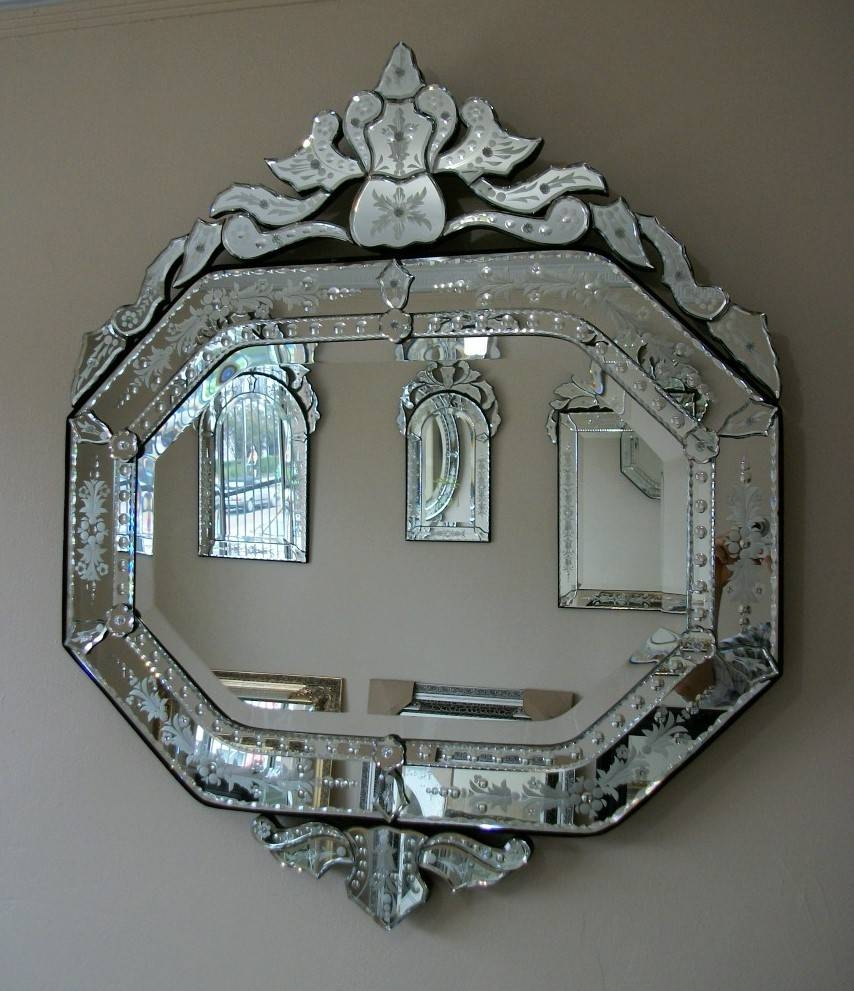 Large Decorative Wall Mirrors For Sale Online In Sydney & Brisbane With Venetian Oval Mirrors (View 15 of 15)