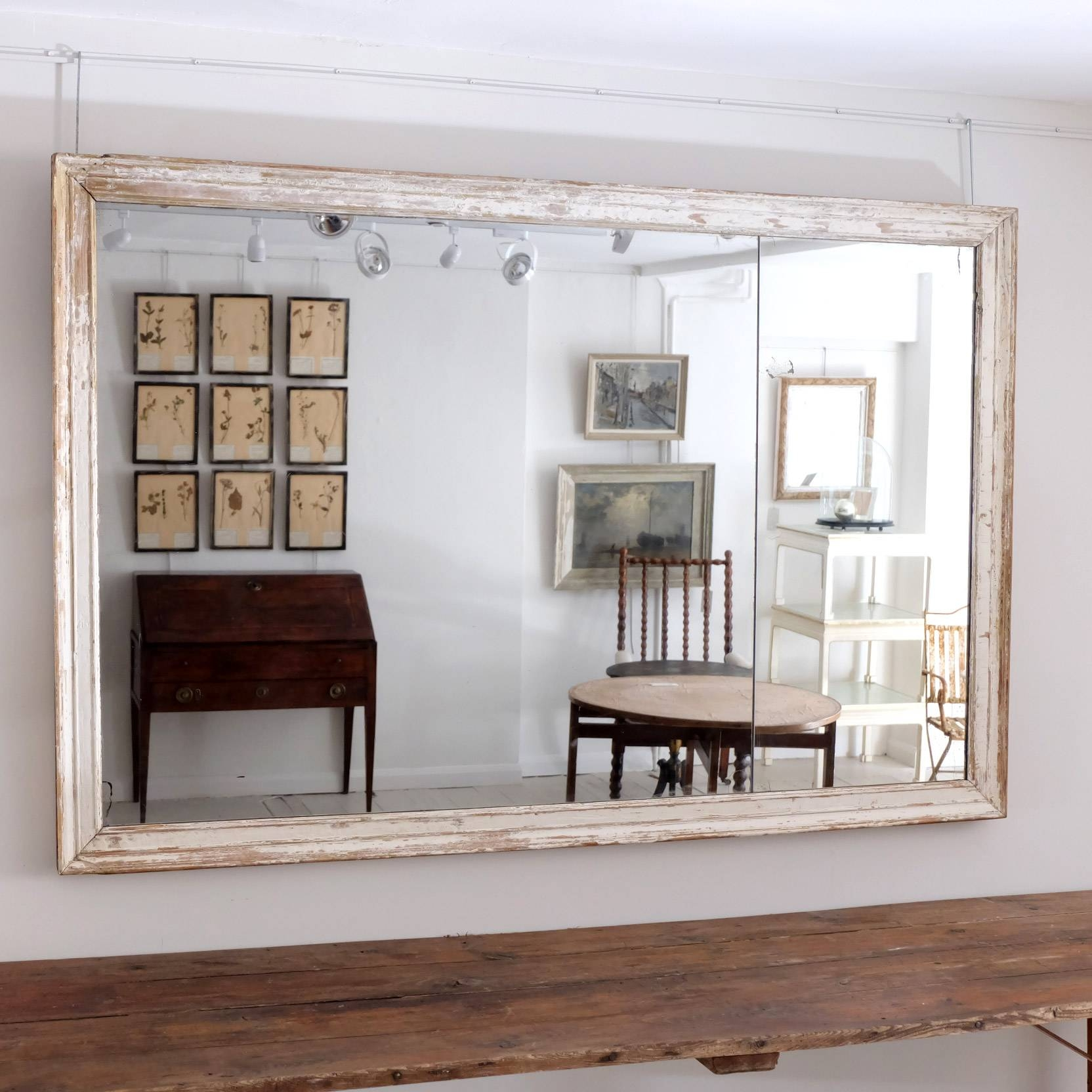 Popular Photo of Large White Antique Mirrors