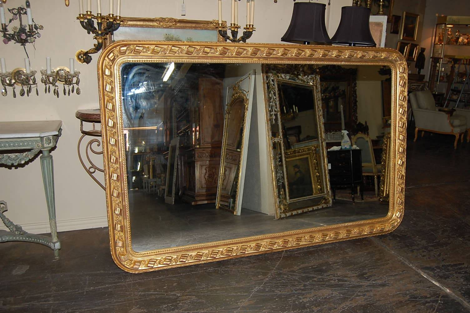Large French Horizontal Mirror For Sale | Antiques | Classifieds inside Huge Antique Mirrors (Image 9 of 15)