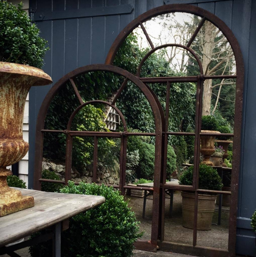 Large Full Arch Architectural Window Mirror Garden-Mirrors [Tagr intended for Outside Garden Mirrors (Image 3 of 15)
