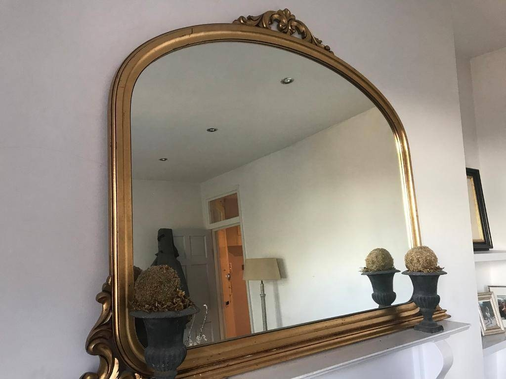 Large Gold Antique Mantelpiece Mirror | In Clapham, London | Gumtree Intended For Mantelpiece Mirrors (View 10 of 15)