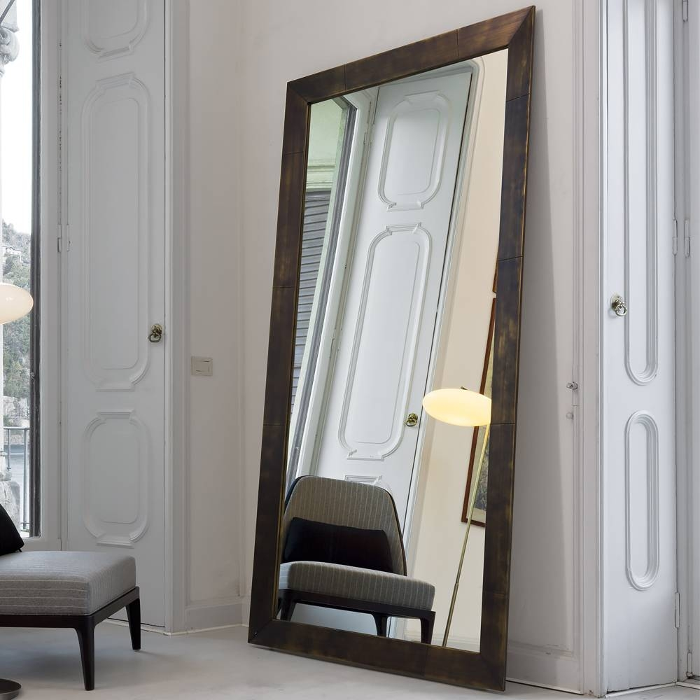 Large Italian Freestanding Floor Mirror | Juliettes Interiors for Large Standing Mirrors (Image 11 of 15)