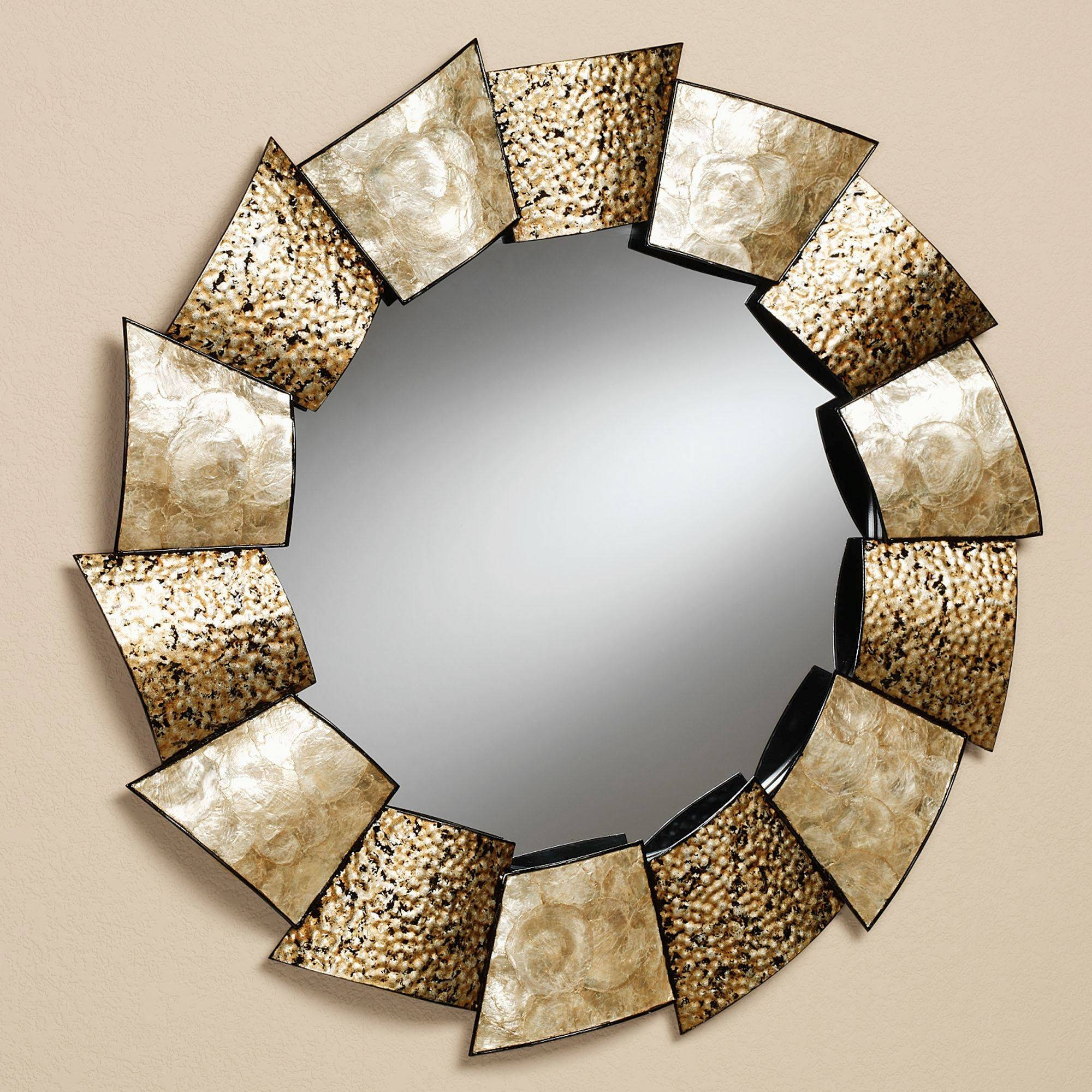 Large Metal Framed Mirrors, Unique Decorative Wall Mirrors intended for Large Round Metal Mirrors (Image 7 of 15)