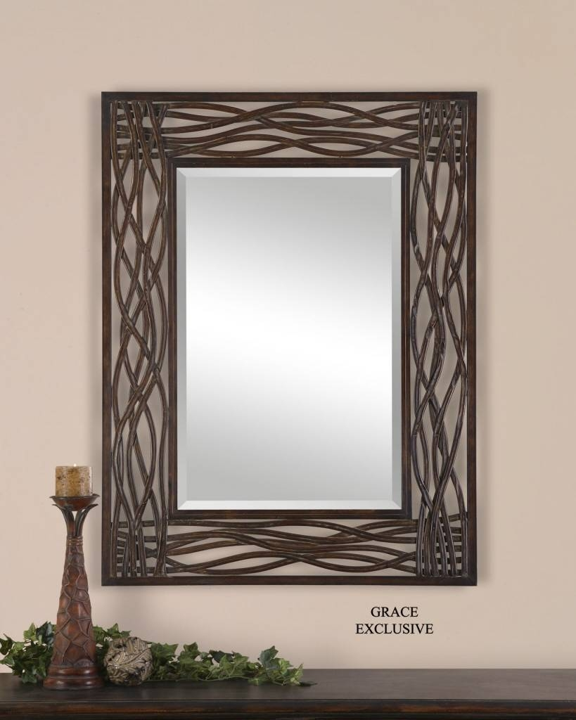 Large Metal Wall Mirrors • Bathroom Mirrors And Wall Mirrors with regard to Large Metal Mirrors (Image 7 of 15)