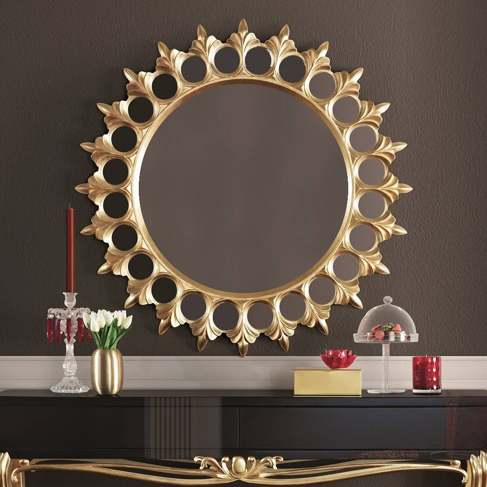 Large Round Luxury Gold Mirror | Juliettes Interiors - Chelsea, London intended for Gold Mirrors (Image 6 of 15)