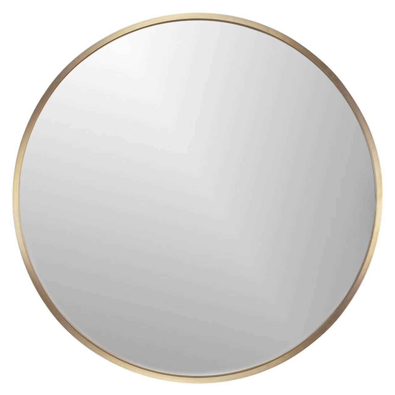 Large Round Wall Mirror Metal inside Large Round Metal Mirrors (Image 8 of 15)