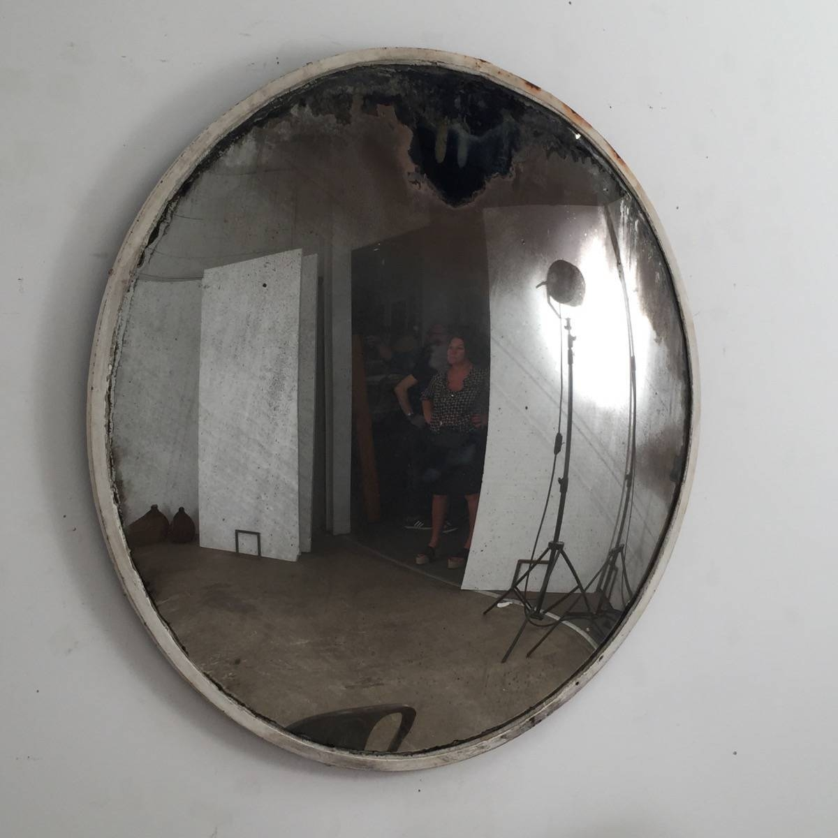 Large White Convex Mirror – Espace Nord Ouest Within White Convex Mirrors (View 10 of 15)