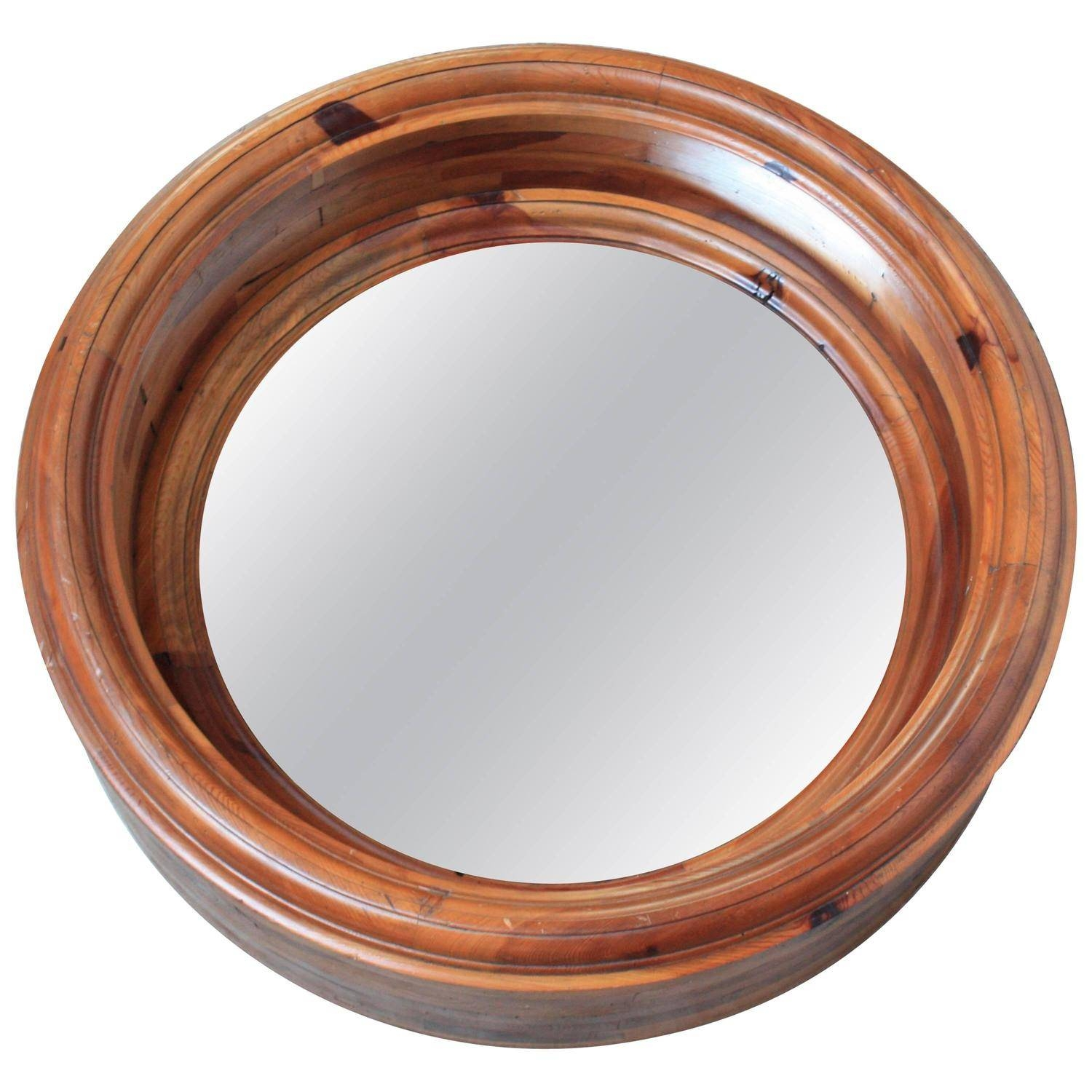 Large Wooden Porthole Mirrorralph Lauren For Sale At 1stdibs Pertaining To Round Porthole Mirrors (View 15 of 15)