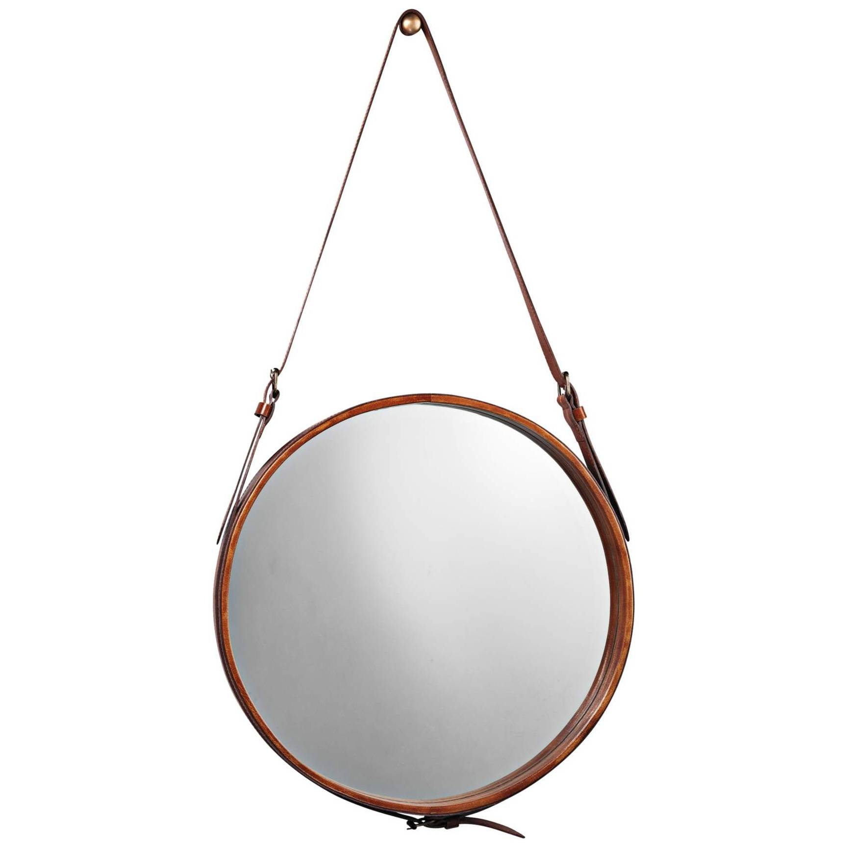 Featured Photo of Round Leather Mirrors