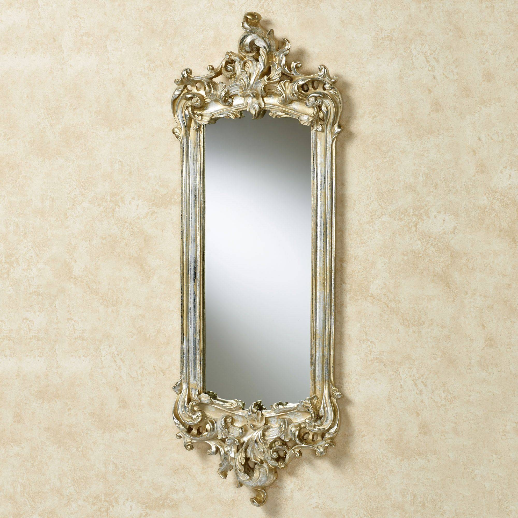 Lela Silver Gold Acanthus Wall Mirror With Gold Wall Mirrors (View 6 of 15)