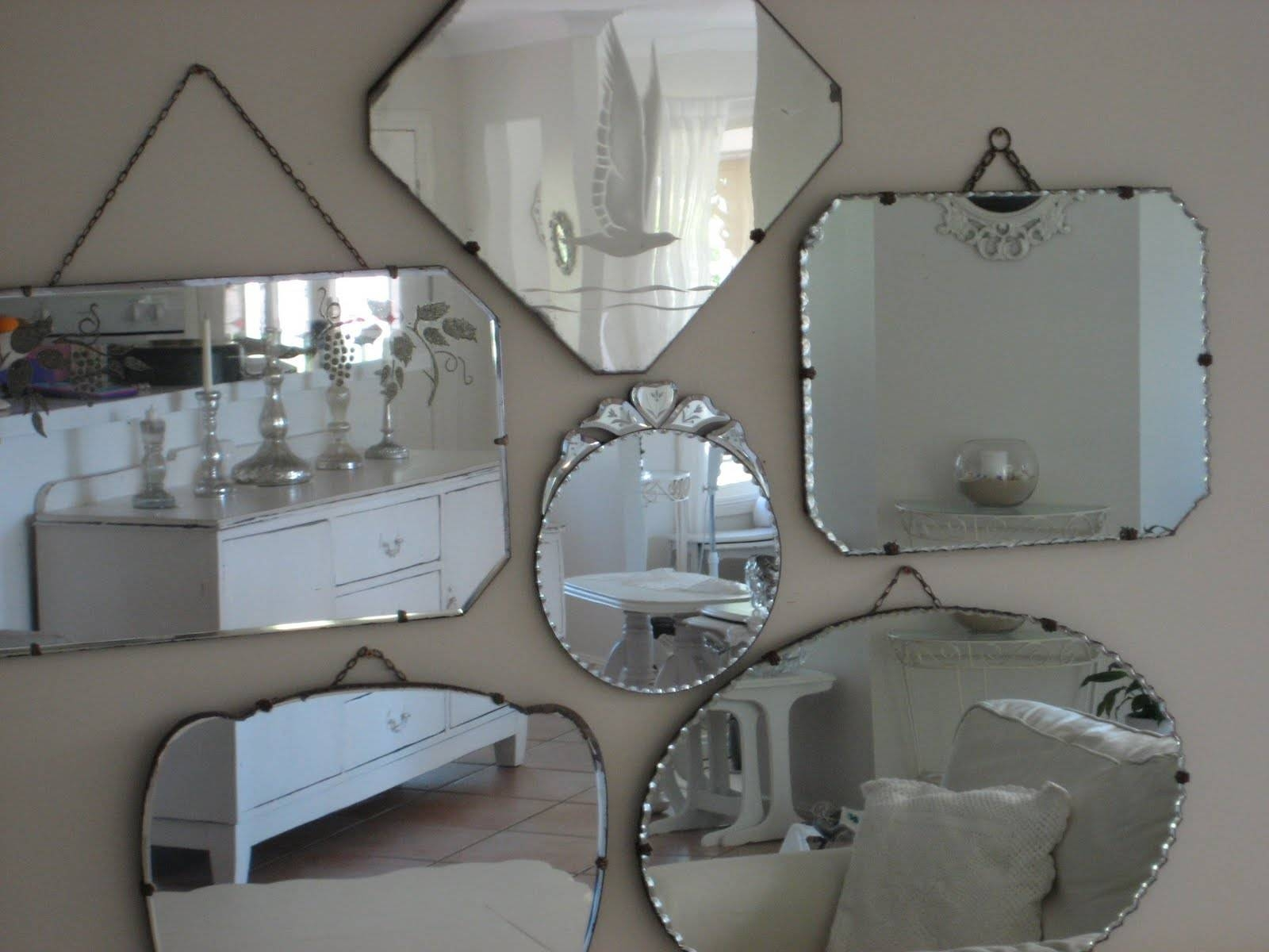 Lilies For Kate: Mirror Display Inside Vintage Bevelled Edge Mirrors (View 4 of 15)