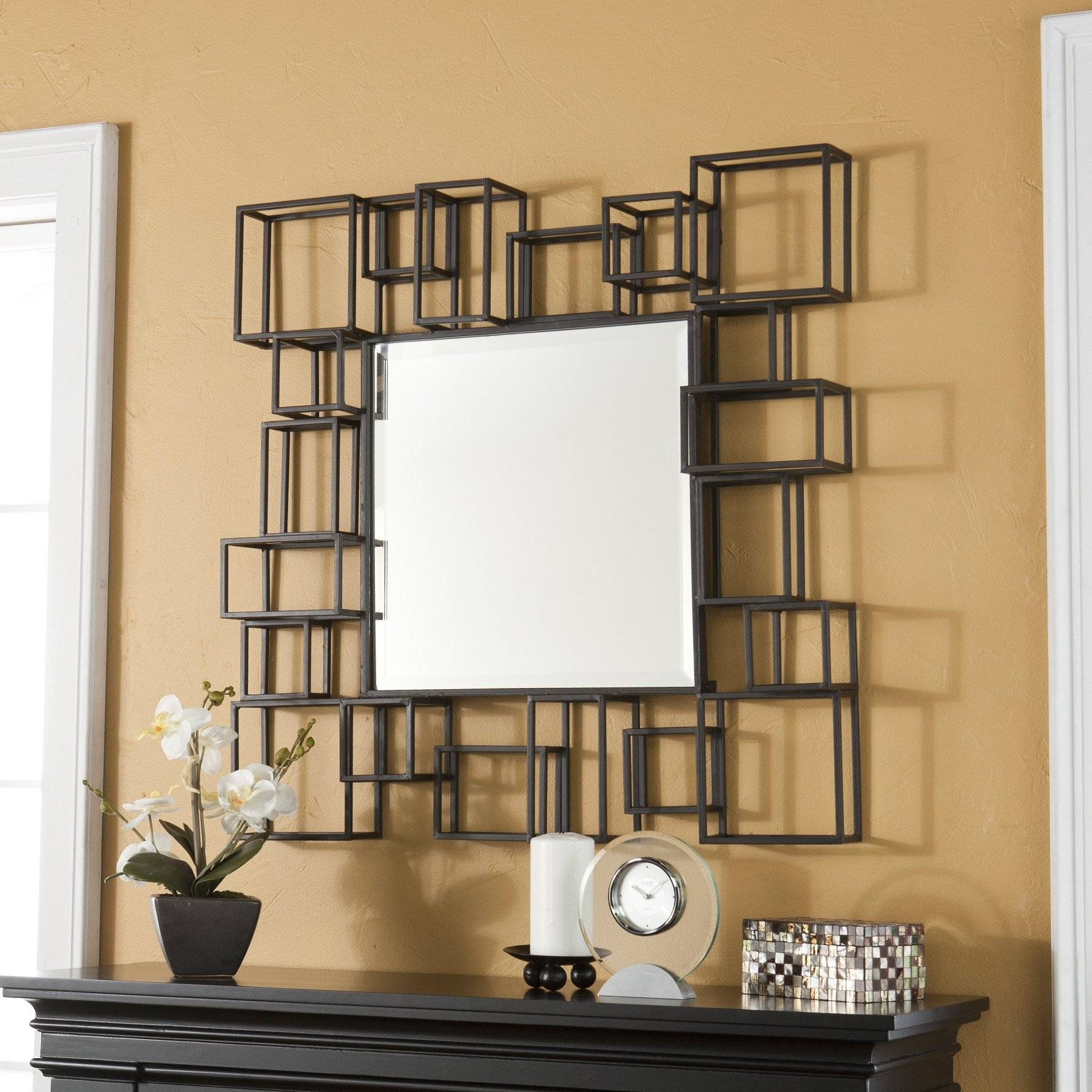 Living Room : Living Room Mirror Wall Living Room Wall Mirror For Large Square Mirrors (View 8 of 15)