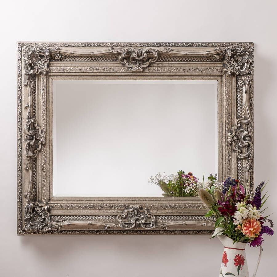 Living Room Mirrors | Notonthehighstreet In Large White Rococo Mirrors (View 4 of 15)